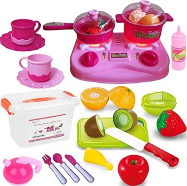 PLAY FOOD AND DISHES SET BY FUNERICA