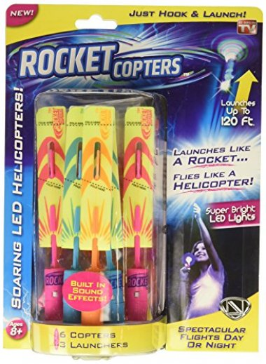 Rocket Copters – The Amazing Slingshot LED Helicopters
