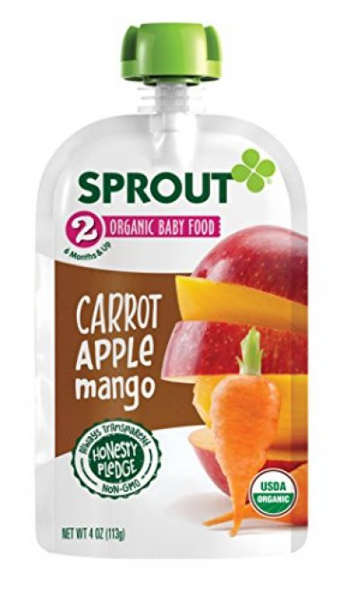 carrot apple Mango food pouch