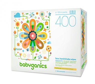 Babyganics Face, Hand & Baby Wipes 400 Count