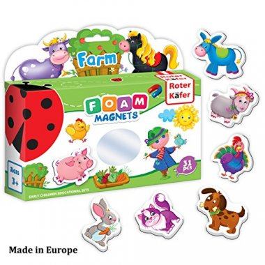 Fridge Magnets for Toddlers FARM Animals (31 pcs)