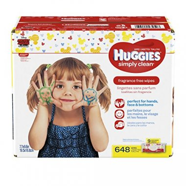 HUGGIES Simply Clean Fragrance Free Baby Wipes (648 count total)