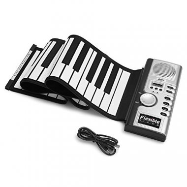Lujex Foldable 61 Keys Soft Electric Roll Up Kids Piano