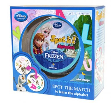 Spot it! Frozen Alphabet