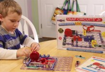 Snap Circuit kits are fun, educational STEM-based toys with will introduce children to the basics of electricity.