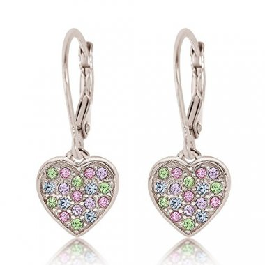 Crystal Heart Children's Earrings