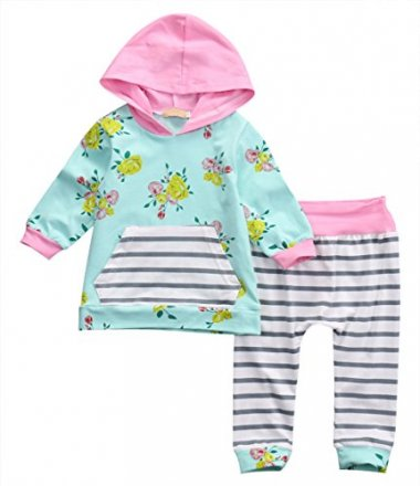 Newborn Hoodies with Pocket Top+Pants