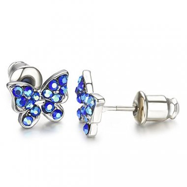 Buyless Fashion Surgical Stainless Steel Butterfly Earrings