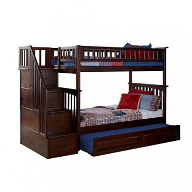 Columbia Staircase Trundle Bed Twin Over Twin