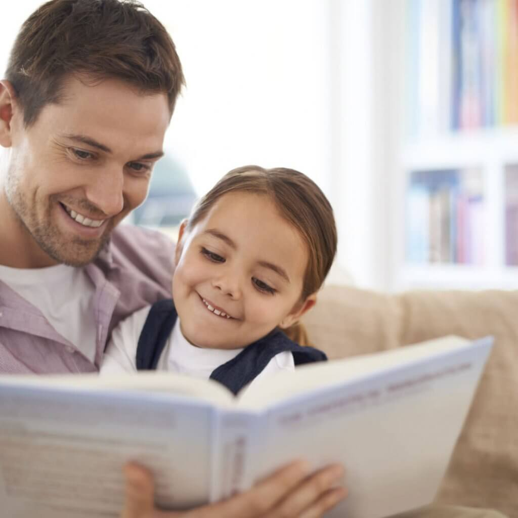 Dad-Reading-to-Daughter-Keeping-Father-Daughter-Relationship