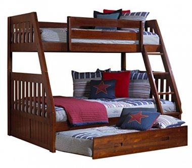 Discovery World Furniture Twin over Full Trundle Bed