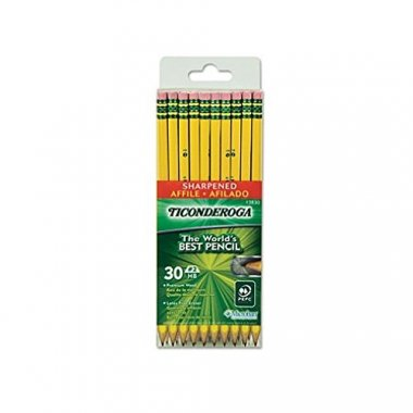 Dixon Ticonderoga Wood-Cased Pencils Box of 30