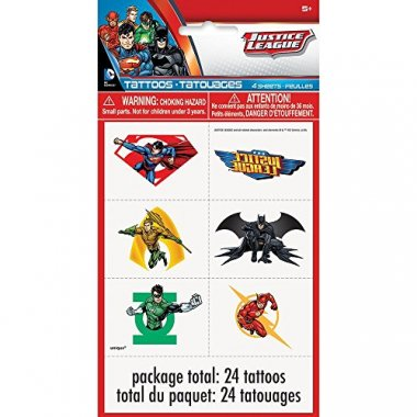 Justice League Tattoos, 24ct