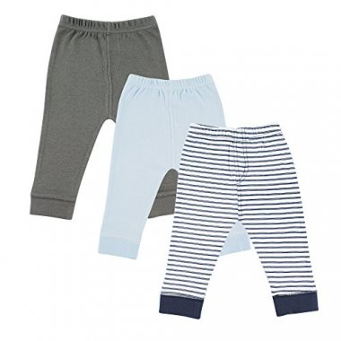 Luvable Friends Baby 3 Pack Tapered Ankle Pants