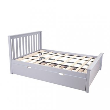 Max & Lily Solid Wood Full-Size Trundle Bed