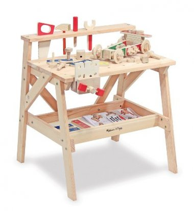 Solid Wood Project Workbench Play Building Set