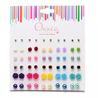Onnea Multi Pairs Disc Ball Earrings (30Pairs (Rose))
