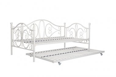 Premium Sturdy Metal Twin Size Daybed and Roll Out Trundle