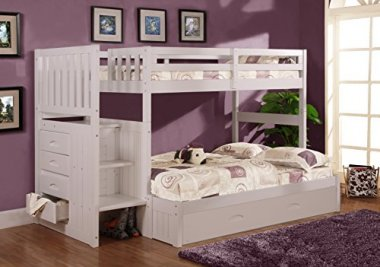 Twin Over Full Stair Stepper Trundle Bed