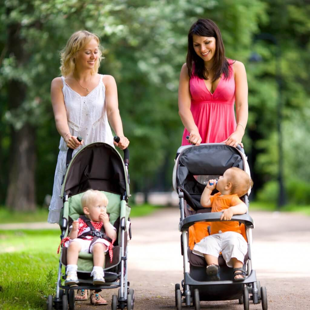 Baby-Strollers-Mothers-Going-for-Walk