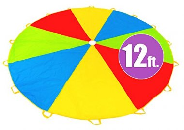 12 Foot Play Parachute with 16 Handles