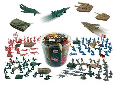 Action Figures Army Men Bucket Playset