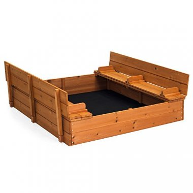 Best Choice Products Large Cedar Sandbox