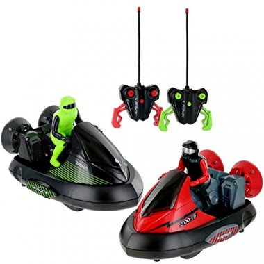Click n' Play Set of 2 Stunt RC Battle Bumper Cars