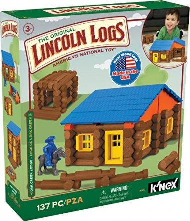 LINCOLN LOGS – Oak Creek Lodge – 137 Pieces