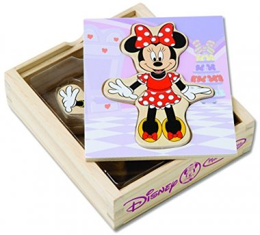 Minnie Mouse Mix and Match Dress-Up Wooden Play Set
