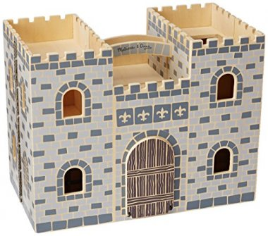 Fold and Go Wooden Castle Dollhouse