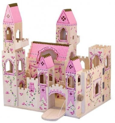 Folding Princess Castle Wooden Dollhouse
