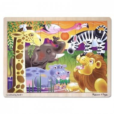 African Plains Safari Wooden Jigsaw Puzzle