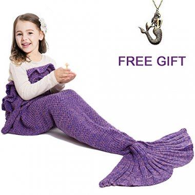 Mermaid Tail Blanket Hand Crochet Snuggle Mermaid