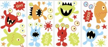 MyStyle MS0106 Little Monsters Glow-In-The-Dark Peel and Stick Wall Art