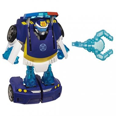 Rescue Bots Energize Chase the Police-Bot Figure