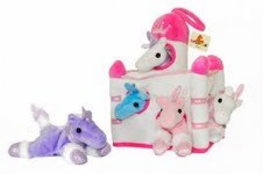 Plush Unicorn Castle with Animals