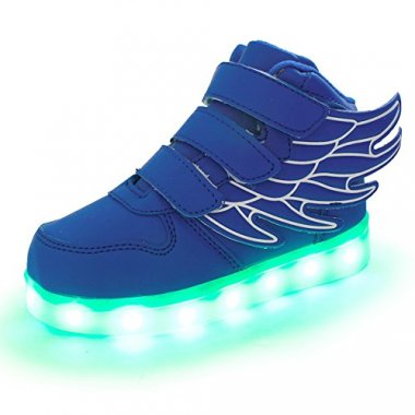 USB Flashing Sneakers For Kids Boys Girls