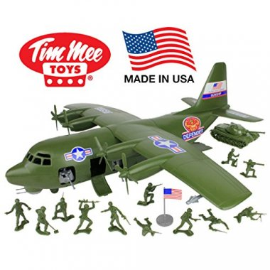 Plastic Army Plane Play Set