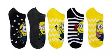 Universal Women's Despicable Me 5 Pack No Show Socks