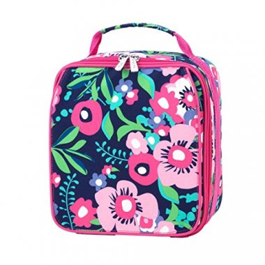Beachy Keen Pink Aqua Insulated Lunch Bag Box
