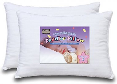 Dreamy Baby Pillow – Two Toddler Pillow Bundle, 100% Cotton