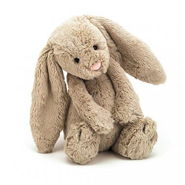 Jellycat Bashful Beige Bunny Stuffed Animal, Medium