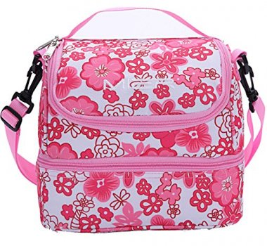 Double Decker Pink Soft Cooler Bag