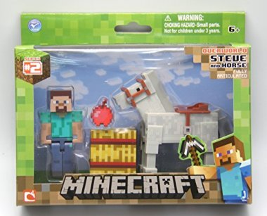 Minecraft Steve with White Horse Action Figure