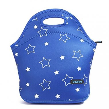Neoprene Blue Star Lunch Box