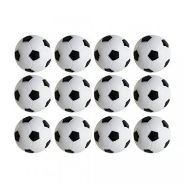 Table Soccer Foosballs Replacements Mini Black and White Soccer Balls – Set of 12