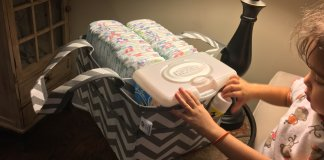 Here we review the best diaper caddies and diaper stackers available.