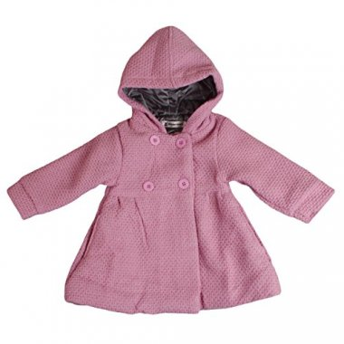 EGELEXY Baby Girl's Hooded Wool Cotton Trench Coat