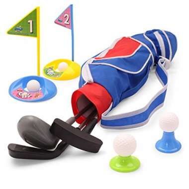 EXERCISE N PLAY Deluxe Happy Kids/Toddler Golf Clubs Set